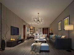 成都尚层装饰别墅装修设计师推荐成都ICC后现代风格案例欣赏现代风格三居室