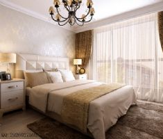 现场实拍中户型现代风装修图片现代卧室装修图片