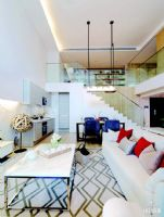 不一样的现代简约风格别墅现代客厅装修图片