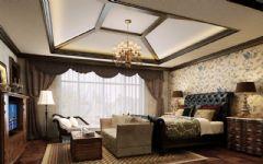 凯迪赫菲庄园别墅美式风格设计案美式卧室装修图片