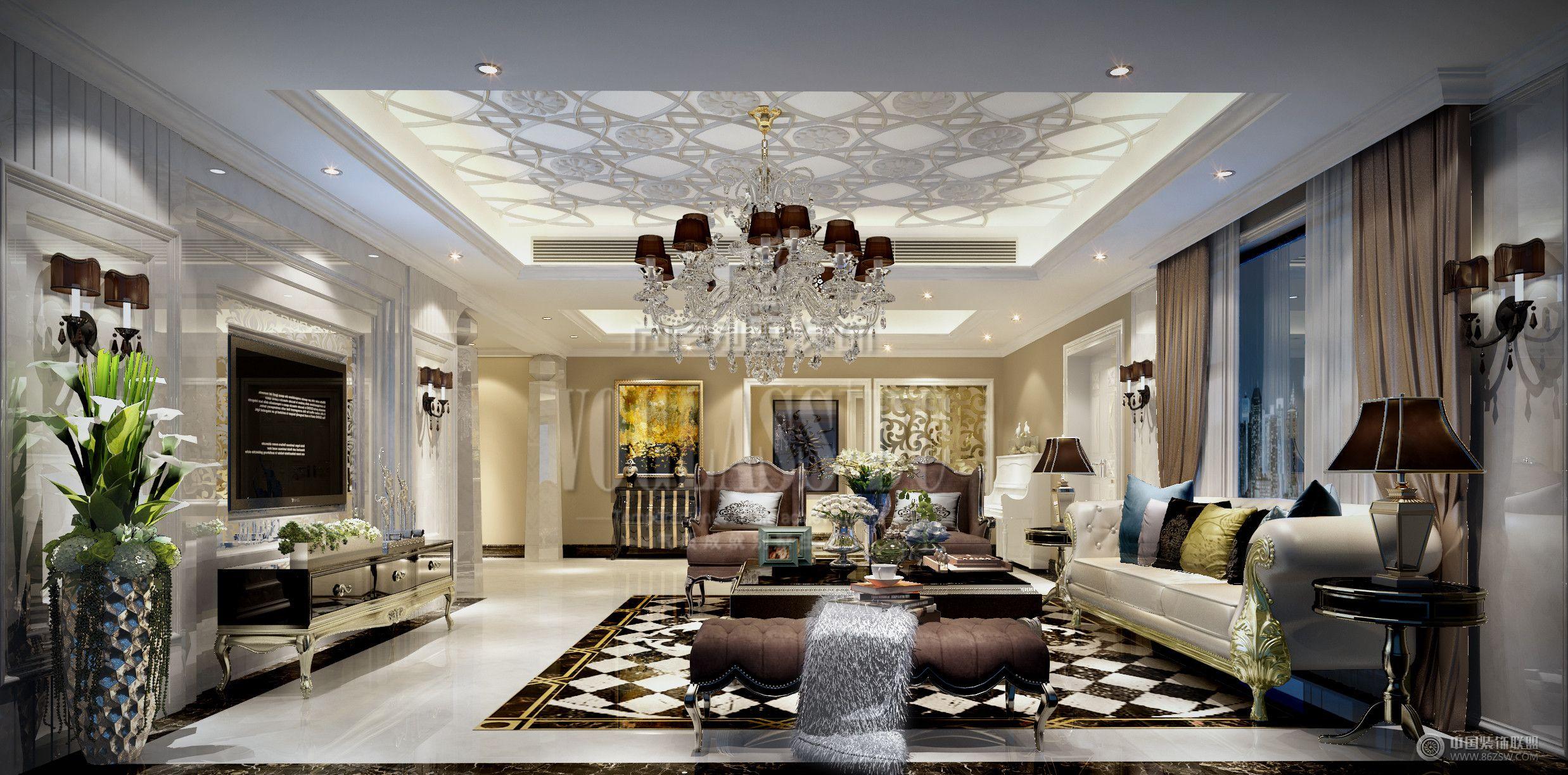成都尚层装饰别墅装修设计师案例说明:业主喜欢浪漫、优雅古典主义。常住人口5人,希望设计师合理利用空间,尽量满足所有人的需求。新古典主义的设计风格其实是经过改良的古典主义风格。欧洲文化丰富的艺术底蕴,开放、创新的设计思想及其尊贵的姿容,一直以来颇受众人喜爱与追求。