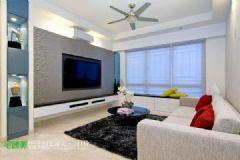柏庄观邸现代简约90平三居室装修案例现代风格小户型
