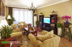 白金湾129平混搭风格三居室装修图片田园风格大户型