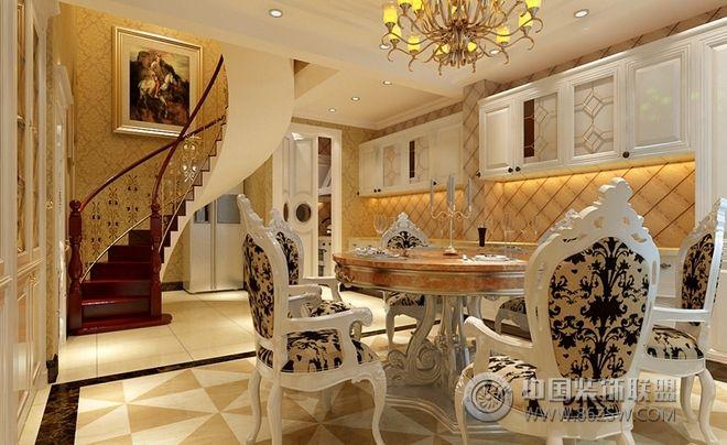 220平四居现代风装修案例欣赏-餐厅装修效果图-八六