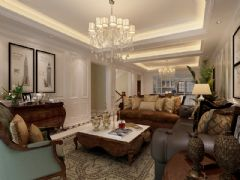 红醍半岛别墅美式风格装修案例美式风格别墅