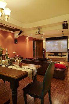 175平異域風情高層公寓東南亞風格餐廳裝修圖片