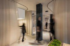 窗帘划分的百变办公室案例欣赏办公室装修图片