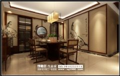 华晨御园中式风装修案例设计中式风格三居室
