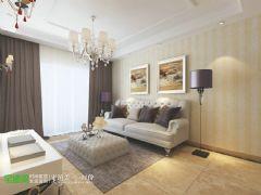 中央城98平简欧风格两居室装修欧式风格小户型