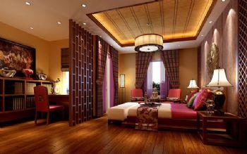 150平三居東南亞風裝修圖片東南亞風格臥室裝修圖片