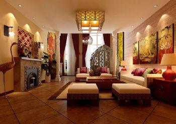150平三居東南亞風裝修圖片東南亞風格客廳裝修圖片