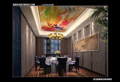 中式风餐厅效果图