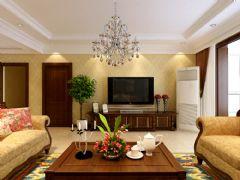 金隅悦城装修设计欧式风格二居室