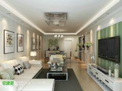 幸福里89平简约风格两居室装修效果图现代风格小户型