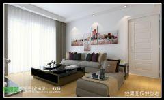 东方龙城甘棠苑122平现代风格三居室设计图简约风格三居室