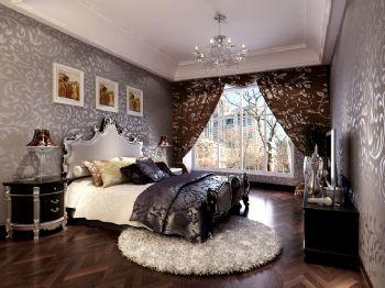 北欧风大户型装修案例-卧室装修效果图-八六(中国)