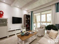 兰州红星紫郡126㎡北欧清新居室装修图片欧式风格二居室