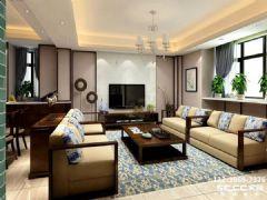 兰州海亮滨河壹号143㎡简约中式风格装修设计美美哒中式风格三居室