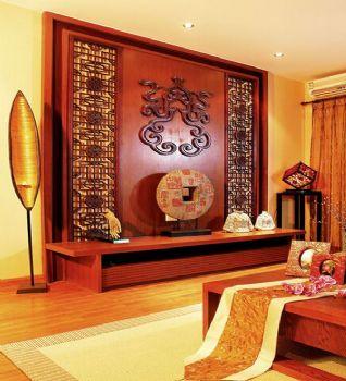 160平三居東南亞風裝修效果圖欣賞東南亞風格客廳裝修圖片