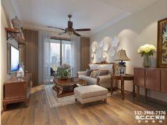 兰州红星国际广场95㎡小空间美式美式风格二居室