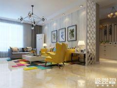 兰州海亮滨河壹号130㎡现代清新美腻了简约风格三居室
