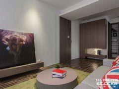兰州锦河丹堤90㎡实景工地效果图简约风格二居室