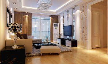 110平现代风格二居室设计图