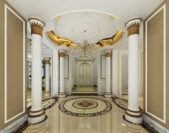 尚层装饰东方普罗旺斯案例展示混搭风格过道装修图片