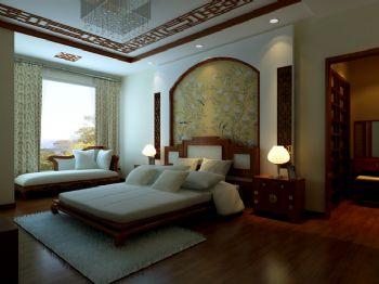 中式风格小户型设计案例中式卧室装修图片