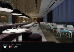 """梦蝶""""主题酒吧餐厅设计效果图"""
