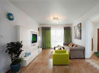 清新簡約綠色三居室裝修案例