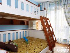 兰州新康家园92.76㎡纯净北欧欧式风格儿童房装修图片