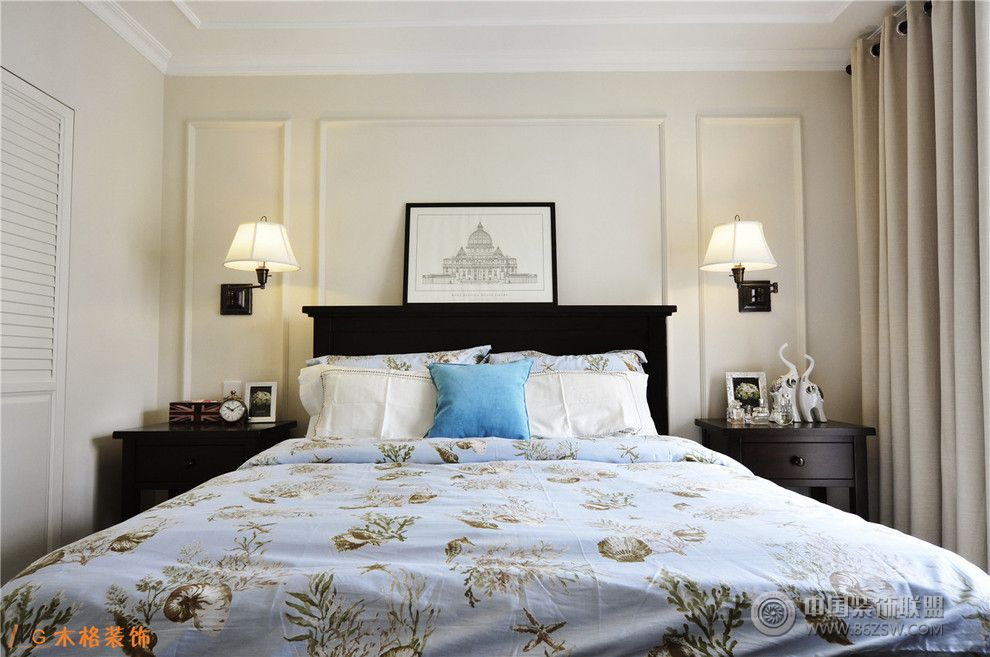 木格装饰美式风格-卧室装修图片图片