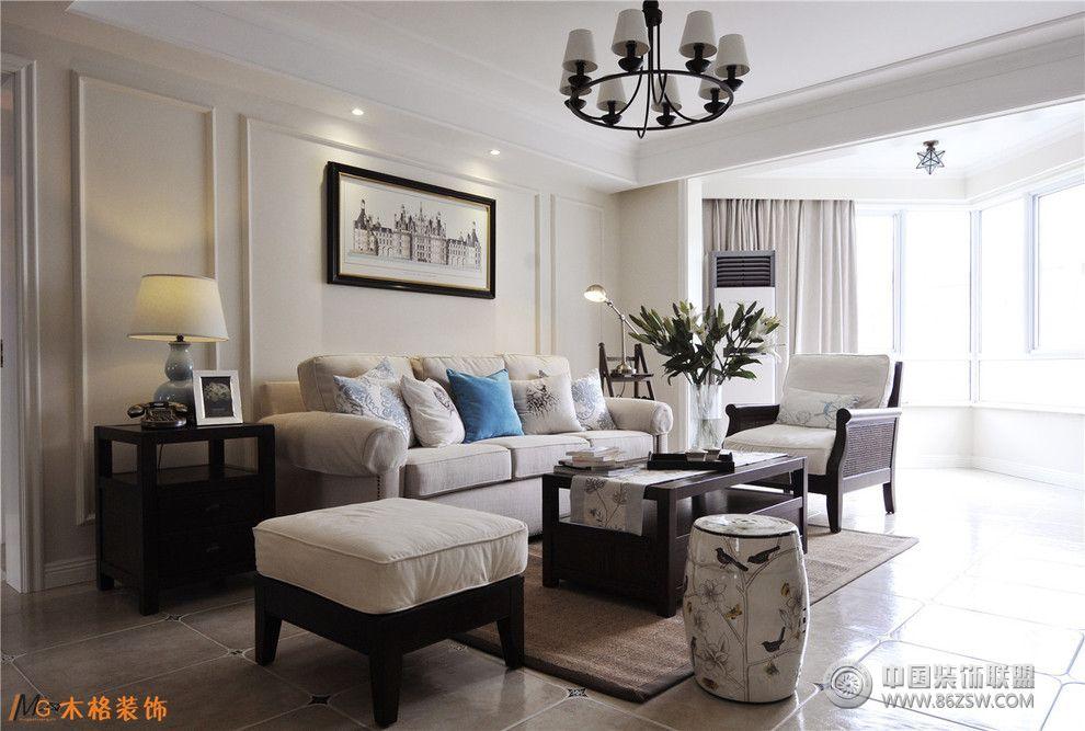 木格装饰美式风格-客厅装修效果图-八六装饰网装修图图片