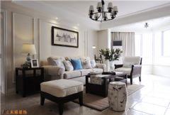 木格装饰美式风格美式风格三居室