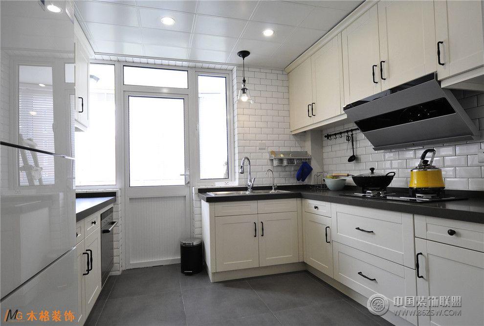 美式风格厨房装修效果图图片