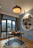 兰州锦绣半岛108㎡混搭实景案例美式风格二居室