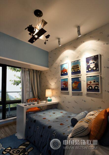 兰州锦绣半岛108㎡混搭实景案例-儿童房装修图片