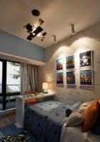 蘭州錦繡半島108㎡混搭實景案例美式風格兒童房裝修圖片