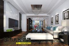 巨海城现代简约-呼和浩特城市人家现代风格三居室