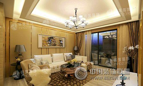 东海样板房-客厅装修效果图-八六(中国)装饰联盟装修