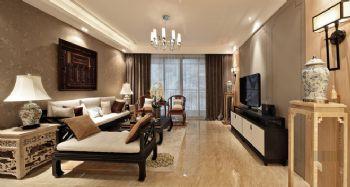 中式风格三居装修设计图