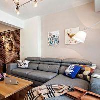 90坪温馨北欧三居设计案例欧式风格三居室