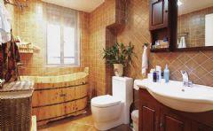 125平美式小三房美式风格三居室