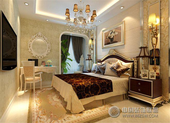 欧式古典风格三居设计图-卧室装修效果图-八六(中国)