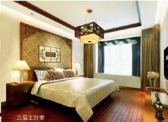 西山艺境360平别墅装修中式风格卧室装修图片