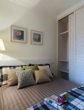 现代简约风格二居效果图简约风格卧室装修图片