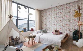 原木别墅经典设计案例简约风格儿童房装修图片