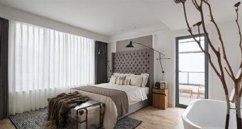 原木别墅经典设计案例简约风格卧室装修图片