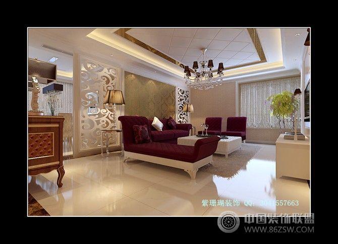 小洋房-客厅装修效果图-八六(中国)装饰联盟装修效果